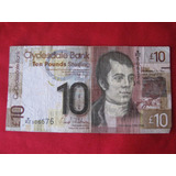 Escocia Banco Clydesdale 10 Libras 25 Enero 2009