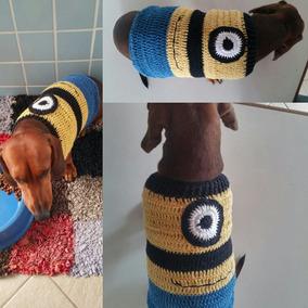 Roupinha Blusa Para Cães Em Crochê Cores Variadas- Inverno