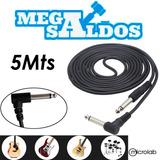 Megasaldos Cable Guitarra Instrumento Musica 5 Metros 90° Hq
