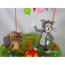 Tom Y Jerry En Porcelana. Adorno Torta. Souvenirs