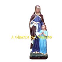 Imagem Santa Sara Barbara Ana Estatua 30cm Cigano Pablo 20cm