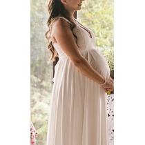Vestido De Noiva Grávida Off-white Lindo E Leve - Perfeito!