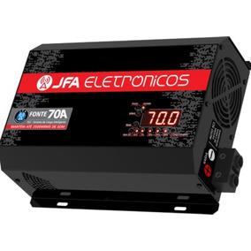 Fonte Automotiva Digital Jfa Turbo 70a Bivolt Automática