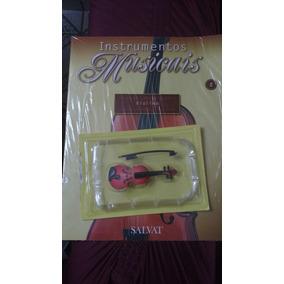 Miniatura Instrumentos Musicais Violino Edição 2. Salvat.