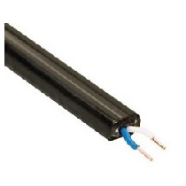 Cable De Acometida 1 X 2 X 22awg/ Color Negro/bobina 300mts/
