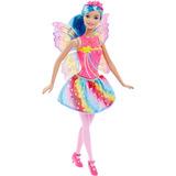 Boneca Barbie Reinos Mágicos - Fada Do Reino Do Arco-íris Dh
