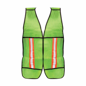 Chaleco Fluorescente Verde Con Reflejante Dermacare
