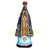 Estatua Nossa Senhora Aparecida Imagem Iluminada 60cm Gesso
