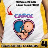 Bebê Espiando Gestante Baby Look Camisa Grávida Nome Bebê