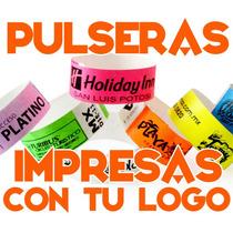 70 Pulseras Personalizadas Tyvek Eventos Fiestas Hotel