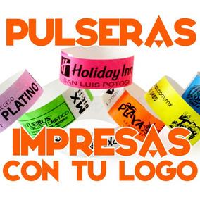 50 Pulseras Personalizadas Tyvek Eventos Fiesta Hotel Party