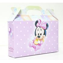Cajitas Souvenirs Minnie Bebé Pack X10 Valijitas Infantil