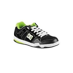 Tenis Dc Stack En28.5 Verde Y Negro Skater