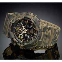 Relógio Casio G-shock Camuflado Masculino Ga-100cm-5adr