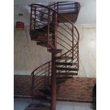 Escalera Tipo Caracol De Metal Con Madera