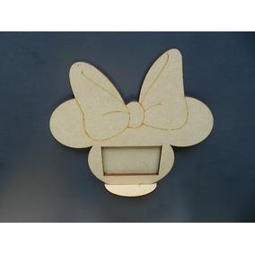 Portaretrato Minnie Mickey Souvenir Infantil Madera **