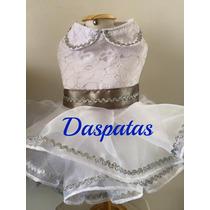 Vestido Festa Luxo Pet (prata) - Roupas Para Cachorro
