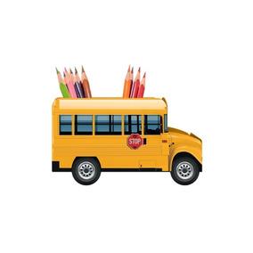 Porta Lápis Objetos School Bus Ônibus Escolar