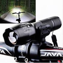 Lampara Y Base Para Bici Bateria Incluida!!!!envio Gratis