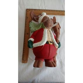 Alce Santa Claus Cerámica Manualidad Mexicana Única