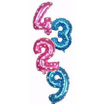 Globos Metalizados De Numeros 40cm Cumpleaños Somos Tienda