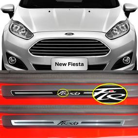 Kit Soleira Premium Resinada Porta Ford New Fiesta 2011 2016