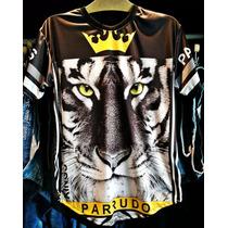 Camiseta Kings Parrudo Tshirt Tipo Longline Oversized Top!!!