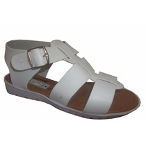 Sandalia Para Dama Casual Bajita Suela Blanca