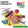 Kit / Set / Combo Canasta Escolar 74 Piezas Económica Nro 9