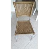 Cadeira Para Piscina Em Alumínio E Fibra Sintética