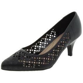 Sapato Feminino Salto Baixo Preto Beira Rio - 4076169