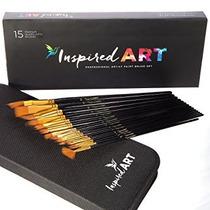 El Cepillo De Pintura Set - 15 Cepillos Profesionales Del