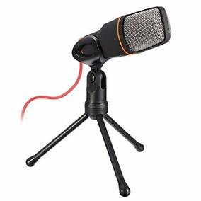 Microfone Condensador Com Tripé Sf-666 Gravação Estúdio Pc