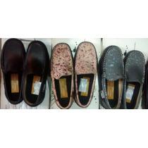 Zapatos Mocasines Casual Y Colegial Unisex, Cuero Importado