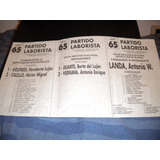 Boleta Elecciones 1995 Partido Laborista Pcia Bs As