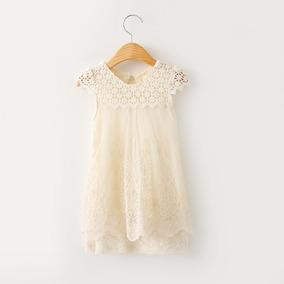 Vestido De Tul Y Guipiure Fiesta - Importado