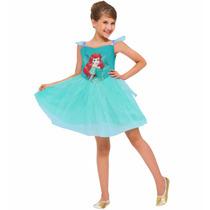 Fantasia Vestido Ariel A Pequena Sereia Original Disney