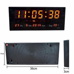 Relógio D Parede Grande Led Digital Para Academia Hospital-m