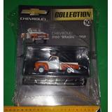 Miniatura Chevrolet 3100 Brasil 1959 Salvat Caminhonete 1/43