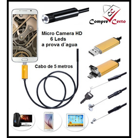 Camera Inspeção Sonda Micro Mini Câmera Espiã Endoscópica
