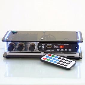 Amplificador Potência Usb Bluetooth Caixa Som Pc Notebook