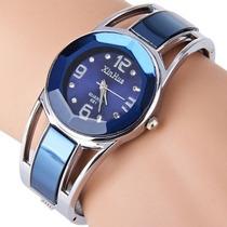 Relógio Feminino Bracelete Azul