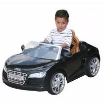 Carro Montable Electrico Audi R8 Niños Control Remoto Negro