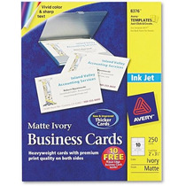 Dos Avery-side Tarjetas Para Imprimir Business Inkjet 2 X 3-