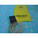 Conjunto 2 De Pulseiras/argolas Dourado Da Forever 21 Novo