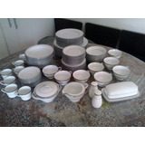 Vajilla Porcelana Rena Ware Zylstra Borde Platino 12 Puestos