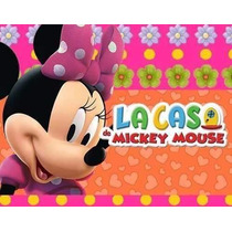 Kit Imprimible Minnie Rosa De La Casa De Mickey Mouse