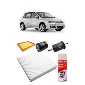 Kit De Filtros Fiat Stilo 1.8 Mpi 16v / 8v + Higienizador Ar