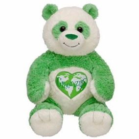 Osito Panda De Peluche Verde De Build- A - Bear Workshop