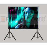 Pantalla Proyeccion Doble Pie 100p Front + Back Proyector Hd
